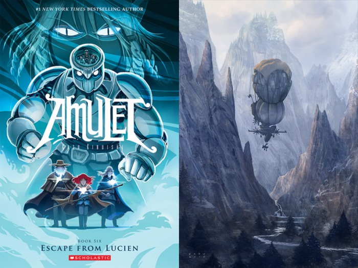 Kazu Kibuishi – Amulet 6: Escape From Lucien y Lift Off: The Art of Airships
